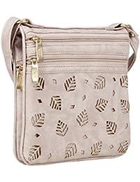 Aadhunik Libaas Trendy Stylish Leaf Cut Work Small Sling Bags, Crossbody Bag, Shoulder Bag (Handbag) For Women's...
