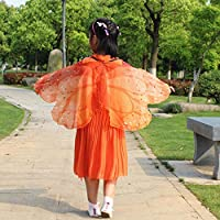 Clearance! MILL.GD88 Scarf for Women丨Child Kids Boys Girls Bohemian Butterfly Print Shawl Pashmina Costume Accessory✬ ✬ ✬