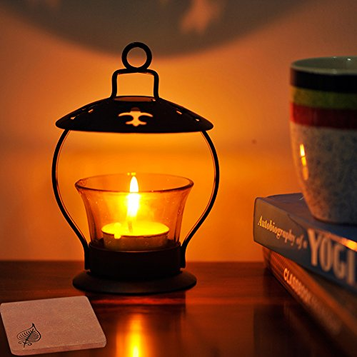 ExclusiveLane Hanging Cum Table Tealight Holder In Iron Yellow (Non Electrical) - For Gift / Home Décor