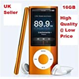 """16GB 4th Generation MP4/MP3 Player With 1.8"""" Screen, FM Radio 30 Pin iPod Dock Connector - (Not iPod, does Not Support iTunes)"""