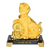 BWinka FengShui Anno zodiacale 2018 di cane con monete fortunate Decorazione Feng Shui per fortuna e ricchezza