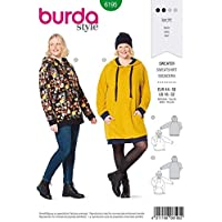 Burda 6195 Patron de couture léger pour femme Taille 44-58 Niveau 2
