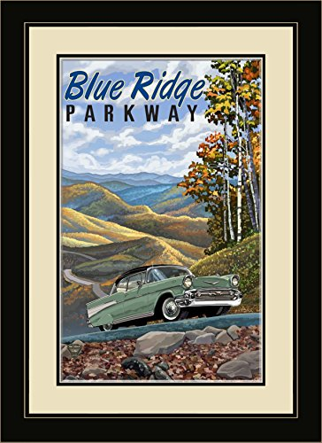Northwest Art Mall Blue Ridge Parkway Chevy gerahmt Art Wand von Paul A. lanquist, 13 von 40,6 cm