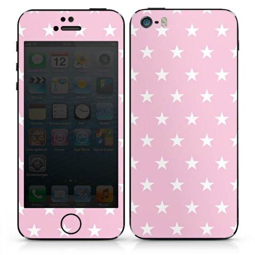 Apple iPhone 4s Case Skin Sticker aus Vinyl-Folie Aufkleber Sterne Muster Pink DesignSkins® glänzend