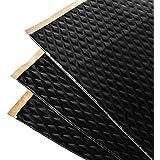 Noico Zwart 2 mm 3,4 m² zelfklevende anti-rammel trillingsdempende mat, auto akoestisch isolatie (lawaaireductie en geluiddem