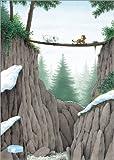 Posterlounge Leinwandbild 50 x 70 cm: der Kleine Eisbär, die Mutprobe - fertiges Wandbild, Bild auf Keilrahmen, Fertigbild auf Echter Leinwand, Leinwanddruck