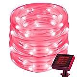 cuzile 50LED Solar Lichtschlauch rot Lichterkette Outdoor Wasserdicht ideal für Dekorationen Weihnachten Garten Rasen Terrasse Hochzeiten Parteien