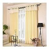WUFENG-Vorhänge Schatten Sonnencreme Baumwolle Und Leinen Hohe Schattierung Wohnzimmer Schlafzimmer Deckenhohe Fenster, 2 Farben Mehrere Größen Kann Angepasst Werden