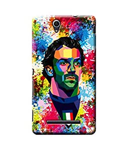 Be Awara Del Piero Abstract Art Designer Mobile Phone Case Back Cover For Sony C3