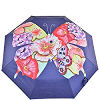"Anuschka Umbrella AUTO Open/Close | UPF 50+ Max Sun protection | 38"" Waterproof Canopy 