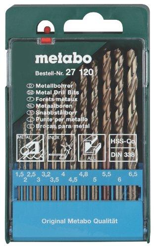 METABO - BROCA PARA METAL HS HSS-CO 13 PIEZAS