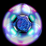 Bescita LED Licht Fidget Hand Spinner Torqbar High Speed Finger Spielzeug EDC Focus Gyro (Blau5)