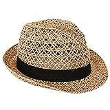 Leisial Donna Paglia Cappello da Cowboy Cappello da Sole Spiaggia per le Donne