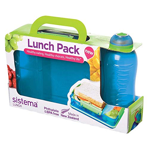 Sistema Lunch Snack Attack Duo 'to go' – 975 ml transparent/blau