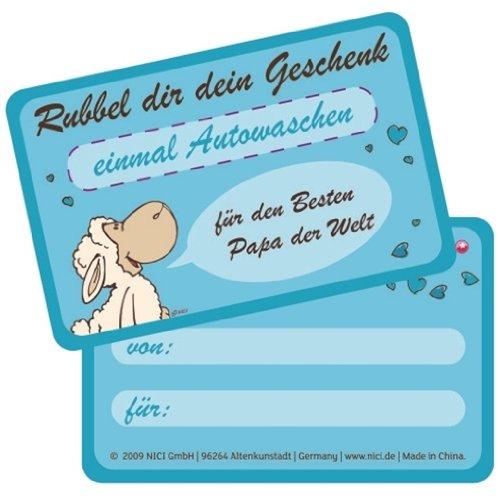 """Preisvergleich Produktbild 32787 - NICI - Elsa&Gustav - Gutscheinkarte """"einmal Autowaschen"""""""