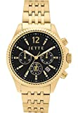 JETTE Time Damen-Armbanduhr Crossroad Analog Quarz One Size, schwarz, gold