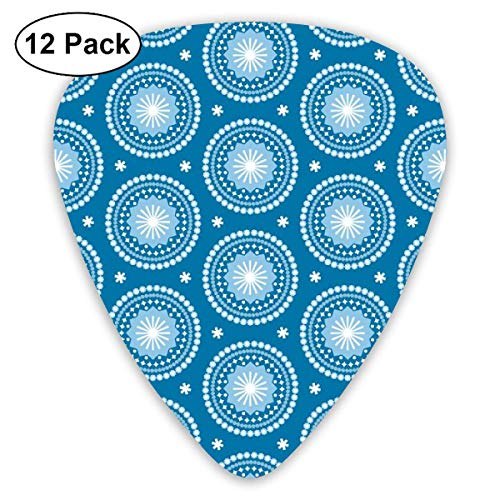rchief Stars Starburst Circles Flowers Classic Celluloid Picks, 12-Pack, For Electric Guitar, Acoustic Guitar, Mandolin, And Bass ()