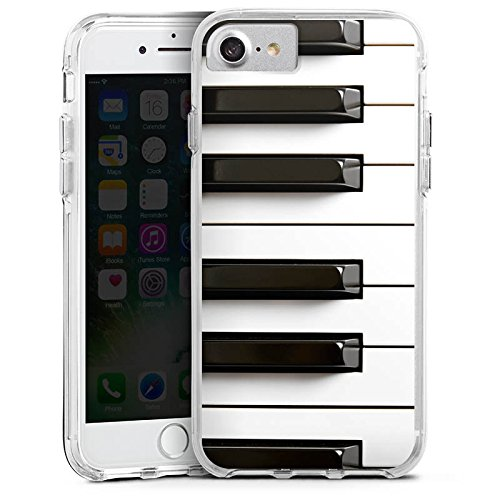 Apple iPhone 6 Bumper Hülle Bumper Case Glitzer Hülle Klavier Piano Musik Bumper Case transparent