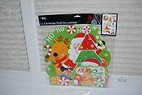 12pezzi assortiti di carta natalizia decorazioni murali grande divertimento per le feste natalizie. Per dare un' idea della dimensione del pezzo più grande misura circa: 34cm x 34cm ideale anche per l' utilizzo come Natale artigianato.