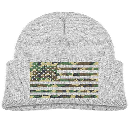 KKAIYA USA Camo Flag Beanie Cap Knit Hats Infant - Camo Knit Beanie