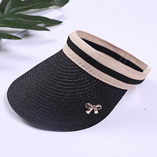 Queta leerer Hut, modisch, Damen, leer, Verstellbarer Kopf, offener Ende, Anti-UV-Schutz, Sonnenschutz am Strand