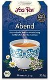 Yogi Tee, Abend-Tee, 4er SPARPACK , Biotee, Teebeutel, Entspannen beim Genuss einer Tasse Tee zum Tagesausklang, je 17 Teebeutel a 30,6g
