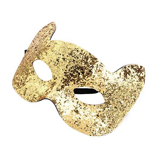 Ruikey Maskenmaske, glitzernd, süße Katzen-Maske, Party-Requisiten für Kinder - Diskothek Katze Kostüm