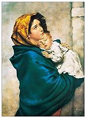 Idea Regalo - Artopweb Pannelli Decorativi Madonna del Riposo Quadro, Legno, Multicolore, 50x1.8x70 cm