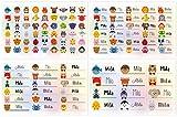 Kigima 114 Aufkleber Sticker Namens-Etiketten rechteckig Mila Verschiedene Größen und Tiermotive