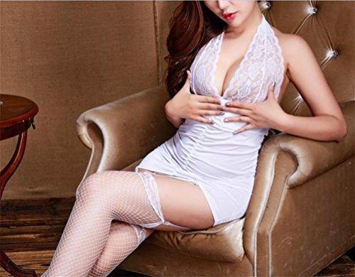 NA Frauen Reizvolle Wäsche Versuchung Weste Spitze Reizvolle Pyjamaspers5Onlichkeit Hängende Ansatzunterwäsche White