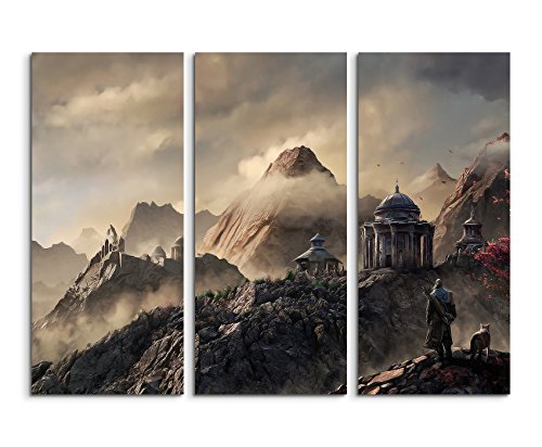 3-piece-framed-canvas-art-print-box-framed-picture-wall-aegon-fantasy-art-print-total-120-fine-art-p