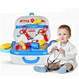 Grab Offers Doctor Playsets Perfect 14pcs Doctor Medical Tools Pretend Play Toy With Portable Suitcase For Kids From 3 Years Old,(Blue)