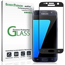Galaxy S7 Pellicola Protettiva, amFilm Copertura Totale Vetro Temperato Protezione Schermo per Samsung Galaxy S7 (1 Pack, Nero)