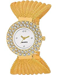 Glory Golden Jula Analogue Watch For Girls_CP-27 GOLD JULLO