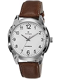 Titan Analog White Dial Men's Watch -1585SL07C
