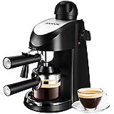 Machine pour Caffe Aicook, Machine pour Caffe italien pour Espresso et Cappuccino avec Vaporisateur, 4 tasses à café, Pression de 3.5 bar, 800W