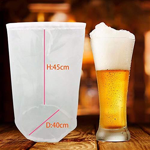 haodene Nussmilchbeutel Milch Filter Netz Wiederverwendbares Nylon-Käsetuch 8 Größen Kalter Aufgussbeutel Am Besten Zum Sieben Von Nussmilchbier Zum Brauen Von Wein