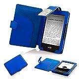 Forefront Cases® E-reader Kindle, schermo touch da 6' (15,2 cm) 2014 Modello (Generazione precedente -7ª) Case Cover Custodia Caso Conchiglia in pelle con luce di lettura a LED - Protezione dispositivo completa immagine