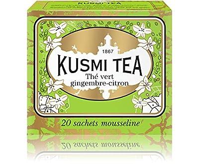 Kusmi Tea - Thé vert gingembre-citron - Boîte 20 sachets