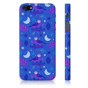 Apple iPhone 5/5S Owl Floral Pattern Printed Designer Mobile Phone Case Back Cover by Be Awara - Matte Finish