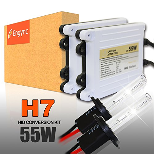 Preisvergleich Produktbild Engync 55W AC HID Xenon Lampe Scheinwerfer Komponenten Conversion Kit mit Premium-Schlank Vorschaltgeräte-H7-4300K-3 Jahre Garantie