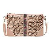XuxMim Mode Dame Openwork Stickerei Handtasche Umschlag Schulter Messenger Bag