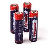 TUOFENG Taschenlampe Batterien mit Seiko Schutzschaltung Real 3000mAh wiederaufladbare Taste Top High Performance 3,7 V Li-Ion-Batterien (nicht für Smok Vape)