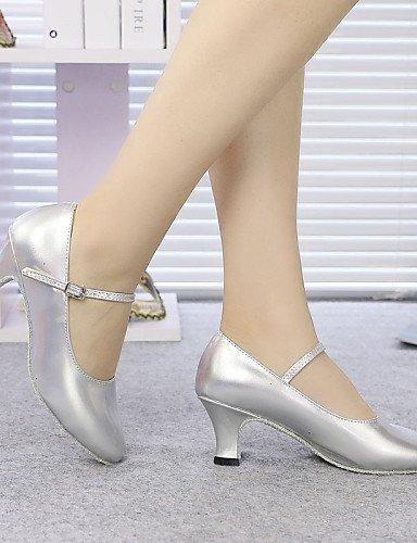 ShangYi Non Customizable Women's/Kids' Dance Shoes Modern Sparkling Glitter/Synthetic Cuban Heel Black/Blue/Red/Gray/Gold Gold