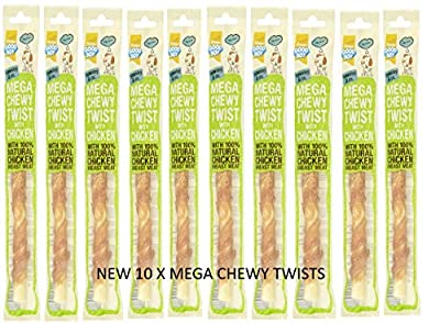 10 Pack Goodboy Pawsley & Co Mega Chewy Twists With Chicken by ARMITAGE