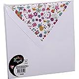 Clairefontaine 53500C - Sobre de felicitación (paquete de 10, cuadrado), color blanco