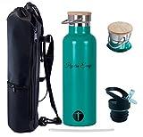 Trinkflasche Edelstahl [Hydra-Easy] mit Sportverschluss [Gratis] und inklusive Tragtasche ....Jetzt entdecken