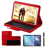 REAL-EAGLE Coque Galaxy Tab E 9.6 QWERTY Clavier Bluetooth Étui Housse, sans Fil...