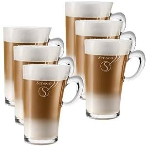 senseo tasse en verre latte macchiato 260 ml lot de 6 cuisine maison. Black Bedroom Furniture Sets. Home Design Ideas