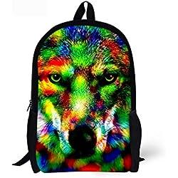 CHAQLIN Mochila escolar lobo